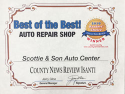 2019 Readers Choice Award - Best BodyShop.